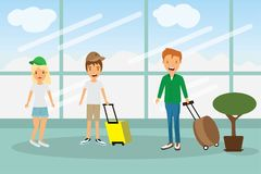 enjoy your holiday travel trip around the world at airport Royalty Free Stock Photo