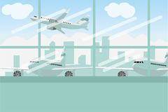 Enjoy your holiday travel trip around the world at airport. Vector illustration Stock Images