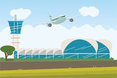 Enjoy your holiday travel trip around the world at airport. Vector illustration Stock Photography