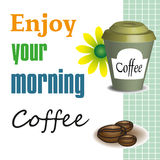 Enjoy your morning coffee vector illustration