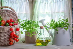 Enjoy your spring kitchen Stock Photo
