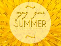 Enjoy your summer with flower macro background Stock Photo
