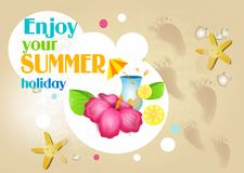 Enjoy your summer holiday Stock Images