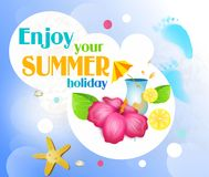 Enjoy your summer holiday Royalty Free Stock Image