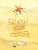 Enjoy Your Summer Sandy Background. Royalty Free Stock Image