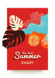Enjoy your summer vacations paradise beach poster Royalty Free Stock Image
