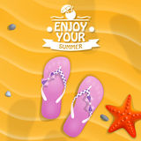 Enjoy your summer. Vector Stock Images