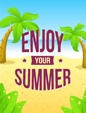 Enjoy your summer. Vector poster Stock Photography