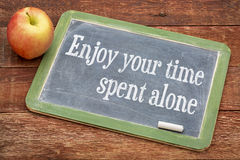 Enjoy your time spent alone Royalty Free Stock Photo