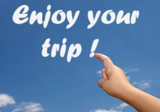 Enjoy your trip in the. Sky Royalty Free Stock Photography