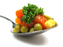 Enjoy your vegetables Royalty Free Stock Photo