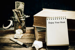 Enjoy Your Week on note paper Royalty Free Stock Images
