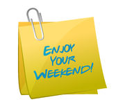 Enjoy your weekend post. illustration design Stock Photography