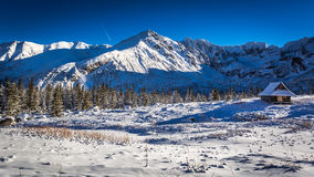 Enjoy your winter time in cold mountains, Tatras Stock Image