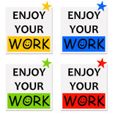 Enjoy your work Royalty Free Stock Photography