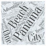 An enjoyable adventure vacation in panama city word cloud concept  background Stock Images