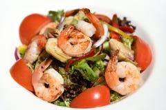 Enjoyable prawns salad. With tomatoes Royalty Free Stock Photos