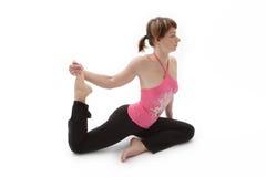 She enjoyed yoga Stock Images