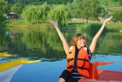 Enjoyi boating Stock Photos