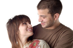Enjoying. Happy couple in love royalty free stock images