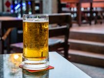 Free Enjoying A Glass Of Chilled Beer In Unmarked Mug. Royalty Free Stock Images - 156103699