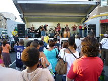Enjoying Adams Morgan Day Jazz Music Royalty Free Stock Photos