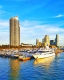 Enjoying the afternoon. Miami Beach South Pointe Royalty Free Stock Photos