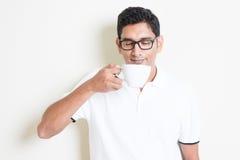 Enjoying the aroma coffee Stock Photo