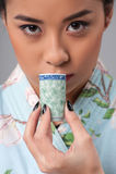 Enjoying asian tea ceremony Royalty Free Stock Image