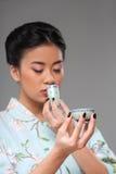 Enjoying asian tea ceremony Stock Image