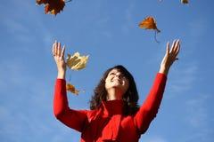 Enjoying the autumn Royalty Free Stock Image