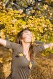 Enjoying autumn. Royalty Free Stock Images