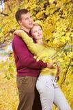 Enjoying autumn Royalty Free Stock Images