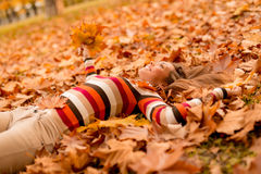 Enjoying In Autumn Royalty Free Stock Photography