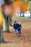 Enjoying an Autumn stroll Stock Photo