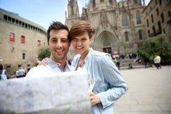 Enjoying Barcelona places Stock Photo