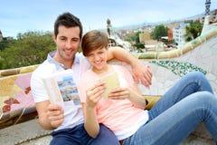 Enjoying Barcelona places Royalty Free Stock Photography