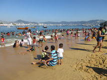 Enjoying the Beach in Acapulco Mexico Royalty Free Stock Images