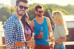 Enjoying beer with friends. Stock Photo