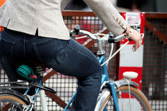 Enjoying bicycle Royalty Free Stock Photography