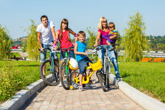 Enjoying bicycle ride Royalty Free Stock Image