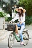 Enjoying bike ride Royalty Free Stock Photos