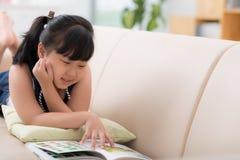 Enjoying a book Stock Photos