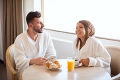 Enjoying breakfast together Royalty Free Stock Photo