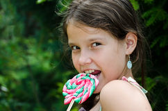 Enjoying a candy Royalty Free Stock Photography