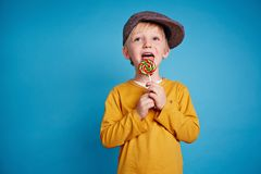 Enjoying candy Royalty Free Stock Photos