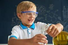 Enjoying chemistry class Stock Image