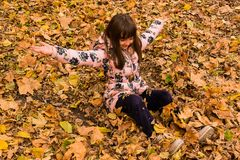 Enjoying childhood and nature stock photos
