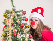 Enjoying Christmas at home Royalty Free Stock Photos