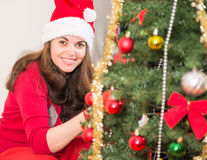 Enjoying the Christmas Tradition Royalty Free Stock Photo